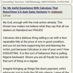 How Calculusx Of  V.A Auto Sales Ventures Scammed And Defrauded Me And Nairaland Is Covering Him Up Part 1